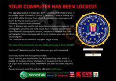 new fbi greendot moneypak virus  keep your eyes open for this, it's a scam and one of the worst forms of malware, ransomware. #jgsf1987