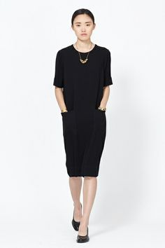 Featuring Stone Crepe Shift Dress