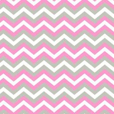 "Chevron Pink/Grey Anti-Pill Polyester Fleece Fabric by the Yard, 60"""