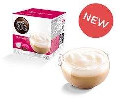 Try some of our more adventurous varieties, including our range of delicious tea pods. Visit NESCAFÉ® Dolce Gusto® and buy online today. Coffee Milk, Coffee Pods, Shops, Tea Latte, Nescafe, Drinking Tea, Glass Of Milk, Panna Cotta, Pudding