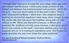 AcnEase helped a parent with #rosacea and a teenage daughter with #acne! www.acnease.com