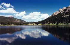 Lily Lake at the Base of Twin Sisters, Estes Park, CO