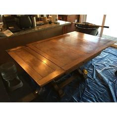 Image of 1940s Antique Solid Wood Table