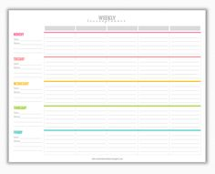 Free Homeschool Weekly Planner {printable} | Homeschooling Planning ...