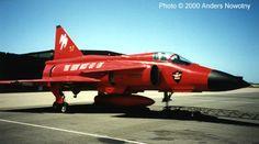 Red J-37 Viggen