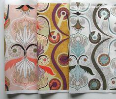 Mechanized Embellishment by Michele Rosenboom.  Available on Spoonflower.