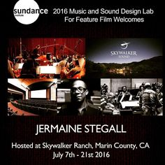 Headed to Skywalker Ranch next week! Invited to the 2016 Sundance Institute Composer lab! #sundance #sundanceinstitute #skywalker #skywalkersound #skywalkerranch #lucasfilm #ilm #jermainestegall