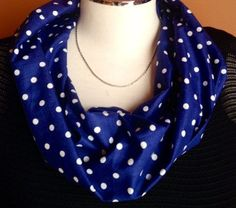 A personal favorite from my Etsy shop https://www.etsy.com/listing/208760024/scarflette-mini-infinity-polka-dots-dots