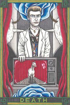 Twin Peaks Tarot Philip Jefferies postcard PRINT. £1.89, via Etsy.