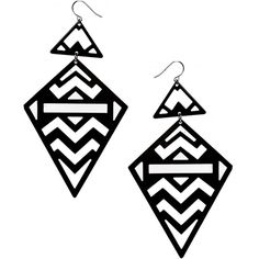 ASOS Limited Edition Aztec Triangle Earrings (€9,44) ❤ liked on Polyvore featuring jewelry, earrings, cut out earrings, asos jewelry, asos earrings, fish hook jewelry and triangle jewelry
