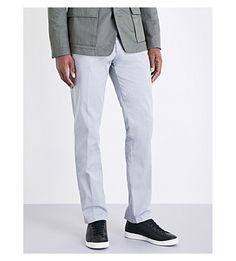 BOSS Slim-fit tapered chinos. #boss #cloth #
