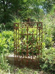 Cast Iron Panel Gate Section Ornate Grate GARDEN ARCHITECTURAL CAST WROUGHT