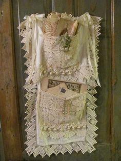 Shabby Chic Lace Crochet Linen