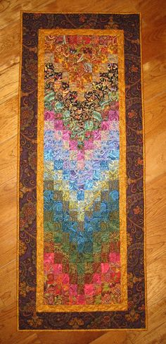 Art Quilt Paisley Passion Fabric Wall Hanging Bed by TahoeQuilts, $164.00