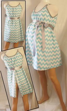 Mommie  Maternity Hospital Gown. --- Yes yes yes!  Only a different print.  By the time we have babies chevron will be over and done with lol