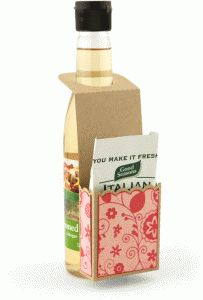 salad dressing hanger gift set------------I think I'm in love with this shape from the Silhouette Design Store!