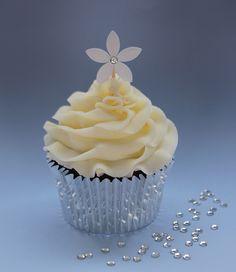 Flower & Crystal Cupcake Pick Tutorial