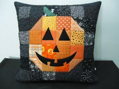 Pachwork Halloween Pillow