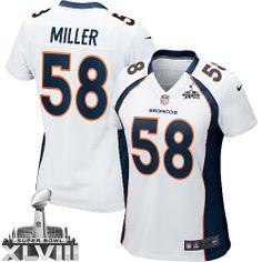 Von Miller Limited Jersey-80%OFF Nike Von Miller Limited Jersey at Broncos Shop. (Limited Nike Women's Von Miller White Super Bowl XLVIII Jersey) Denver Broncos Road #58 NFL Easy Returns.