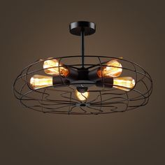 200.00$  Watch here - http://aliq8t.worldwells.pw/go.php?t=32782512508 - Industrial wind table retro Edison fan Cafe Restaurant aisle clothing store Cafe bedroom Iron Chandelier 200.00$