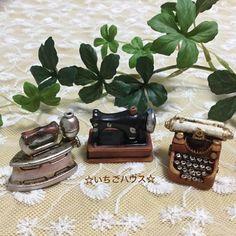 セリア☆アンティーク&レトロなミニチュア雑貨大集合♪:☆いちごハウス☆