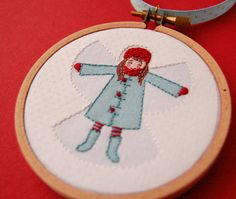 embroidered snow angel... brilliant!