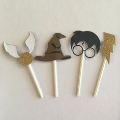 Gateau Harry Potter, Cumpleaños Harry Potter, Harry Potter Halloween, Harry Potter Birthday, Harry Potter Cupcake Toppers, Harry Potter Cupcakes, Harry Potter Bricolage, Snail Craft, Anniversaire Harry Potter