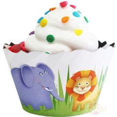Cupcake Wrap Floresta e Zebrada Dupla Face (12un) :: Festa Express