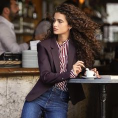 Femme Focus: 8 Parisian Inspired Looks From H&M Paris Outfits, Fashion Outfits, Hair Photo, Curly Girl, Curled Hairstyles, Parisian Style, Hair Inspiration, Hair Beauty, Hair Styles