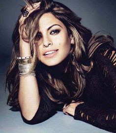 Eva Mendes.love her style and confidence!
