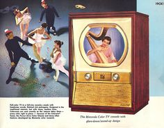 Television is the first audiovisual device that changed the way people see entertainment. Color Television, Vintage Television, Vintage Tv Ads, Monitor, Vintage Appliances, Retro Advertising, Old Magazines, New Things To Learn, Tv Videos