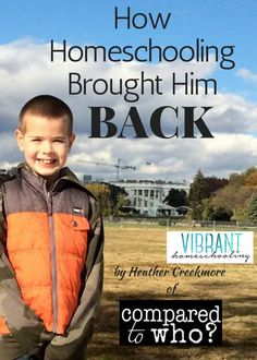 The day he didn't pull away--that was the day when I knew I had made the right decision about homeschooling. It sounds silly to say that I had already lost my son at the age of seven. But, I believe it. Vibrant Homeschooling