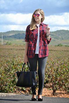 bpla'style: red plaid shirt