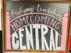 Central College Homecoming Chalkboard Homecoming, Chalkboard, College, Projects, Design, Log Projects, Chalk Board, University, Design Comics