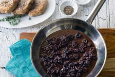 Gluten Free Pork Chops with Cherry Balsamic Sauce
