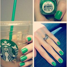 Essie Mojito Madness - Starbucks GREEN. Not a normal color for me but I love it.