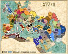 rome total war 2 map - Google Search