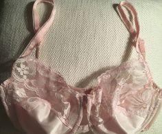 48d8ce278 Dolores for Poirette Promise by Poirette Pink Lace Vintage Bra Sz 34 C D