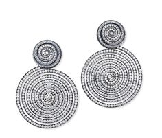Hemmerle earrings in silver and gold with diamonds