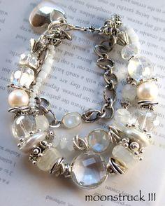 ON SALE bracelet rainbow moonstone bracelet by soulfuledges