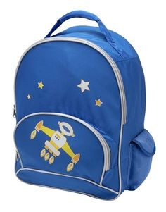 My Sweet Dreams Baby - Blue Spacebot Kid's Personalized Backpack (http://www.mysweetdreamsbaby.com/personalized/kidsbackpacks.htm)