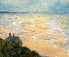 The Hut at Trouville, Low Tide, 1881, Claude Monet