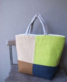 Puzzle Bag, Cotton Bag, Handmade Bags, Bag Making, Handbags, Japanese Bags, Tote Bag, Sewing, Fabric