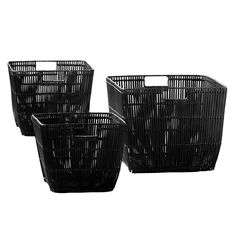 Set of 3 Black Tapered Square Baskets - Papaya - Papaya. Hmmmm, what could i use these for?
