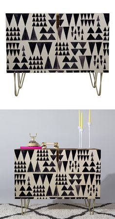The Peaks and Valleys Credenza brings a fun contemporary touch to a mid-century inspired design. Play with various color palettes to achieve a balanced look, or create a stunning space with coordinatin...  Find the Peaks and Valleys Credenza, as seen in the #Mid-Century Monochrome Collection at http://dotandbo.com/collections/mid-century-monochrome?utm_source=pinterest&utm_medium=organic&db_sku=127816
