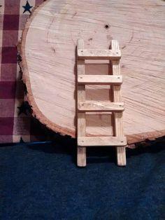 Mini wood ladder, fairy garden accessories, country decor, gnome garden accessories, handmade wood l Craft Accessories, Fairy Garden Accessories, Dollhouse Accessories, Country Decor, Rustic Decor, Farmhouse Decor, Diy Projects Etsy, Wood Ladder, Gnome Garden