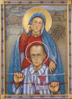 St Maximilian, Mama Mary, Catholic Saints, Vintage Cards, Jesus Christ, Baseball Cards, God, Pictures, Catholic Art