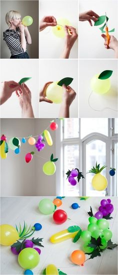 DIY Fruit Balloon--such a cute idea! Maybe use for the Fruits of the Spirit!