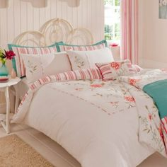 Catherine Lansfield Portobello Floral Super King Size Quiltset Multi: Amazon.co.uk: Kitchen & Home