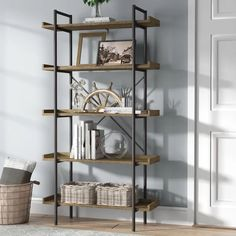 Jessica Bookcase Wood Floating Shelves, Wood Shelves, Glass Shelves, Shelving, Deep Shelves, Rustic Shelves, Display Shelves, Cube Bookcase, Etagere Bookcase